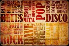 Αφίσα μουσικής ροκ διανυσματική απεικόνιση