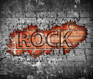 Αφίσα μουσικής ροκ Grunge στοκ φωτογραφία με δικαίωμα ελεύθερης χρήσης