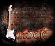 Αφίσα μουσικής ροκ Grunge στοκ εικόνες