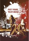 αφίσα μουσικής σχεδίου Στοκ εικόνα με δικαίωμα ελεύθερης χρήσης