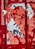 Αφίσα οδών που απορρίπτεται Στοκ Εικόνα