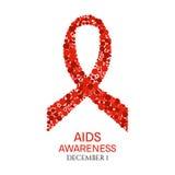 Αφίσα Παγκόσμιας Ημέρας κατά του AIDS Στοκ Φωτογραφίες