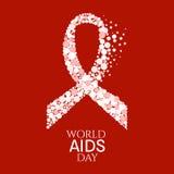 Αφίσα Παγκόσμιας Ημέρας κατά του AIDS Στοκ Εικόνες