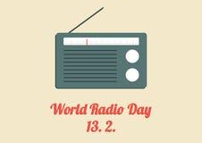 Αφίσα παγκόσμιας ραδιο ημέρας Στοκ Φωτογραφίες