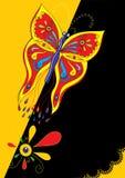 αφίσα πεταλούδων Στοκ Εικόνες