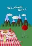 Αφίσα πικ-νίκ Στοκ εικόνα με δικαίωμα ελεύθερης χρήσης