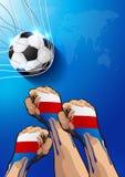 Αφίσα ποδοσφαίρου της Ρωσίας διανυσματική απεικόνιση