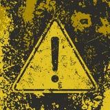 Αφίσα προσοχής Grunge Στοκ φωτογραφία με δικαίωμα ελεύθερης χρήσης