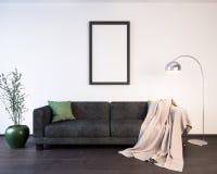 Αφίσα προτύπων στην εσωτερική τρισδιάστατη απεικόνιση ενός σύγχρονου σχεδίου Στοκ φωτογραφία με δικαίωμα ελεύθερης χρήσης