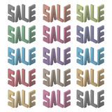 Αφίσα πώλησης Ζωηρόχρωμες επιστολές επίσης corel σύρετε το διάνυσμα απεικόνισης στοκ φωτογραφία με δικαίωμα ελεύθερης χρήσης