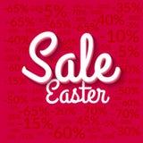 Αφίσα πώλησης Πάσχας Αφίσα πώλησης Υπόβαθρο πώλησης διακοπών Διανυσματική αφίσα κόκκινο eps 10 πώλησης Πάσχας ελεύθερη απεικόνιση δικαιώματος