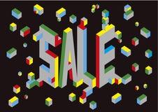 Αφίσα πώλησης Πηγή όγκου επίσης corel σύρετε το διάνυσμα απεικόνισης στοκ φωτογραφία με δικαίωμα ελεύθερης χρήσης