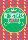 Αφίσα πώλησης Χριστουγέννων Στοκ εικόνα με δικαίωμα ελεύθερης χρήσης