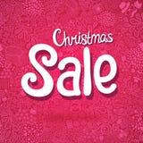 Αφίσα πώλησης Χριστουγέννων doodle Στοκ Εικόνα
