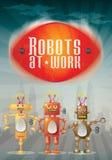 Αφίσα ρομπότ Στοκ εικόνα με δικαίωμα ελεύθερης χρήσης