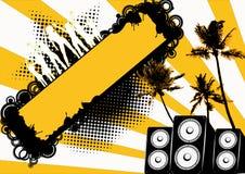 αφίσα συμβαλλόμενων μερών ιπτάμενων disco παραλιών κόλπων Στοκ φωτογραφίες με δικαίωμα ελεύθερης χρήσης