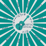 Αφίσα σχεδίου προτύπων: Ακουστικό φεστιβάλ μουσικής Στοκ φωτογραφία με δικαίωμα ελεύθερης χρήσης