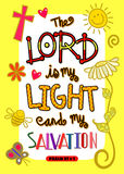 Αφίσα τέχνης Scripture Βίβλων Στοκ Εικόνες