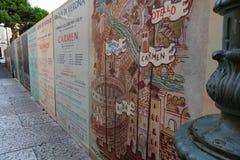 Αφίσα της εποχής οπερών Di Βερόνα χώρων στοκ φωτογραφία με δικαίωμα ελεύθερης χρήσης