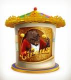 Αφίσα του τσίρκου, αστεία ζώα Στοκ φωτογραφίες με δικαίωμα ελεύθερης χρήσης