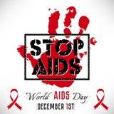Αφίσα του AIDS στάσεων Διανυσματική απεικόνιση