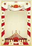 αφίσα τσίρκων χρησιμοποιούμενη ελεύθερη απεικόνιση δικαιώματος