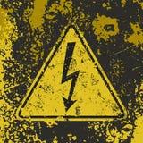 Αφίσα υψηλής τάσης Grunge Στοκ Εικόνες