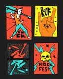 Αφίσα φεστιβάλ μουσικής ροκ απεικόνιση αποθεμάτων