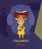 Αφίσα φόβων παιδιών Ελεύθερη απεικόνιση δικαιώματος