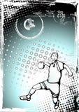 αφίσα χάντμπολ διανυσματική απεικόνιση