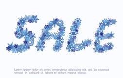 Αφίσα χειμερινής πώλησης Εκπτώσεις στα αγαθά επίσης corel σύρετε το διάνυσμα απεικόνισης διανυσματική απεικόνιση