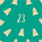 Αφίσα Χριστουγέννων Ζωηρόχρωμο ημερολόγιο εμφάνισης Χριστουγέννων Στοκ εικόνες με δικαίωμα ελεύθερης χρήσης