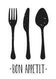 Αφίσα Bon appetit Στοκ Εικόνες