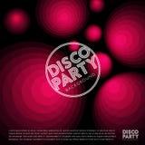 Αφίσα Disco Ανασκόπηση συμβαλλόμενου μέρους αφηρημένη απεικόνιση Κόκκινα φώτα σε ένα σκοτεινό υπόβαθρο ελεύθερη απεικόνιση δικαιώματος