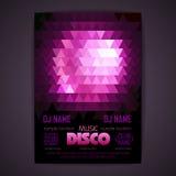Αφίσα Disco Γεωμετρική ανασκόπηση τριγώνων Στοκ Εικόνα