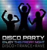 Αφίσα Disco με τους χορευτές Στοκ φωτογραφία με δικαίωμα ελεύθερης χρήσης