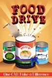 Αφίσα Drive τροφίμων Στοκ φωτογραφία με δικαίωμα ελεύθερης χρήσης