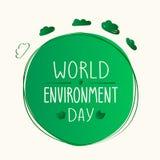 Αφίσα Ecologic Διανυσματική απεικόνιση ημέρας παγκόσμιου περιβάλλοντος Στοκ Φωτογραφία