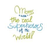 Αφίσα Moms μέσα Στοκ Εικόνα