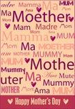 αφίσα s μητέρων ημέρας Στοκ φωτογραφίες με δικαίωμα ελεύθερης χρήσης