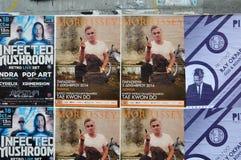 Αφίσες συναυλίας ζωντανής μουσικής Στοκ φωτογραφία με δικαίωμα ελεύθερης χρήσης
