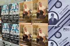 Αφίσες συναυλίας μουσικής Στοκ φωτογραφία με δικαίωμα ελεύθερης χρήσης