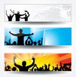 Αφίσες των χορεύοντας κοριτσιών και των αγοριών Στοκ εικόνα με δικαίωμα ελεύθερης χρήσης