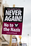 Αφίσσα - διαδήλωση διαμαρτυρίας - Λονδίνο Στοκ Εικόνα