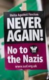 Αφίσσα - διαδήλωση διαμαρτυρίας - Λονδίνο Στοκ φωτογραφίες με δικαίωμα ελεύθερης χρήσης