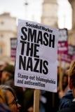 Αφίσσα - διαδήλωση διαμαρτυρίας - Λονδίνο Στοκ Εικόνες