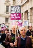 Αφίσσα - διαδήλωση διαμαρτυρίας - Λονδίνο Στοκ Φωτογραφία