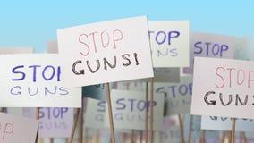 Αφίσσες πυροβόλων όπλων στάσεων στην επίδειξη οδών Εννοιολογική loopable ζωτικότητα διανυσματική απεικόνιση