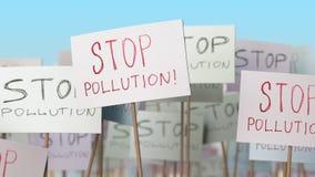 Αφίσσες ρύπανσης στάσεων στην επίδειξη οδών Εννοιολογική loopable ζωτικότητα απεικόνιση αποθεμάτων