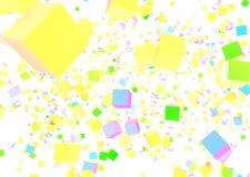 Αφαίρεση από τους κύβους των διαφορετικών χρωμάτων Απεικόνιση αποθεμάτων